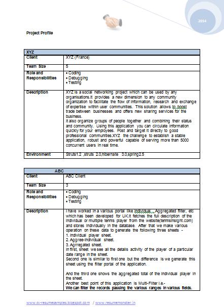 Free mca resume samples – Mca Resume Format