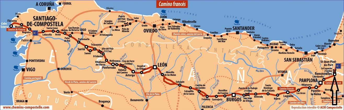 Un chemin ma route jour 31 orisson roncevaux - Saint jean pied de port saint jacques de compostelle distance ...