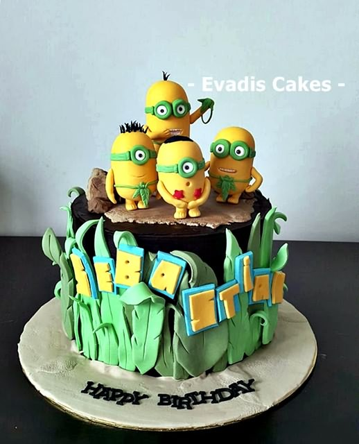 Picture of overall view of Minions cake