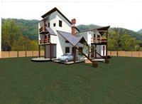 casă de vacanţă, pe structură de lemn,  cod 21 Li