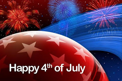 Happy 4th of July from Outer Space clip art