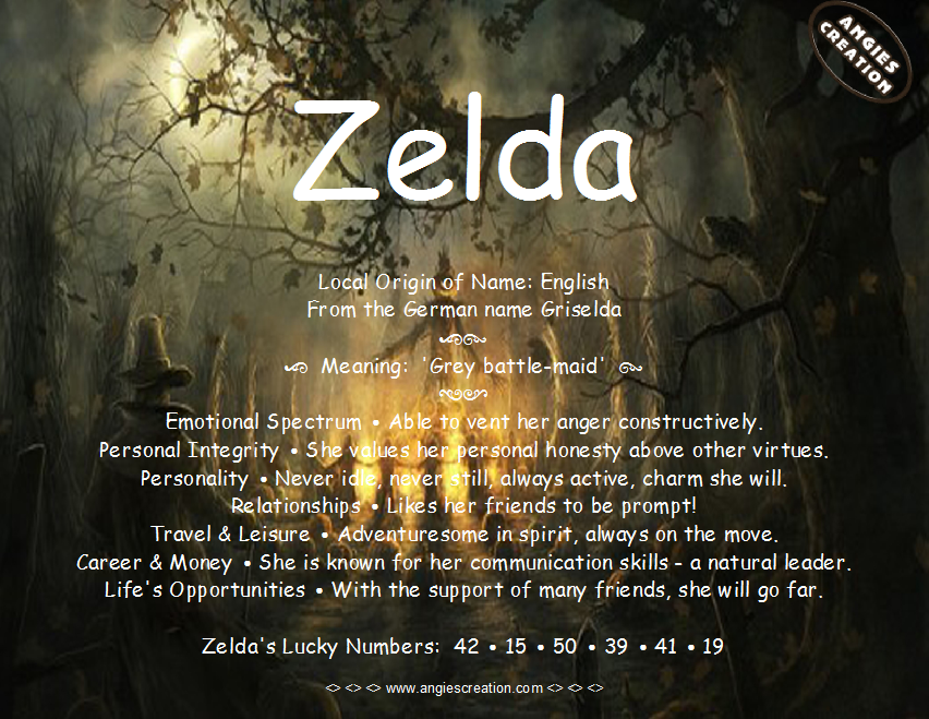 The meaning of the name Zelda