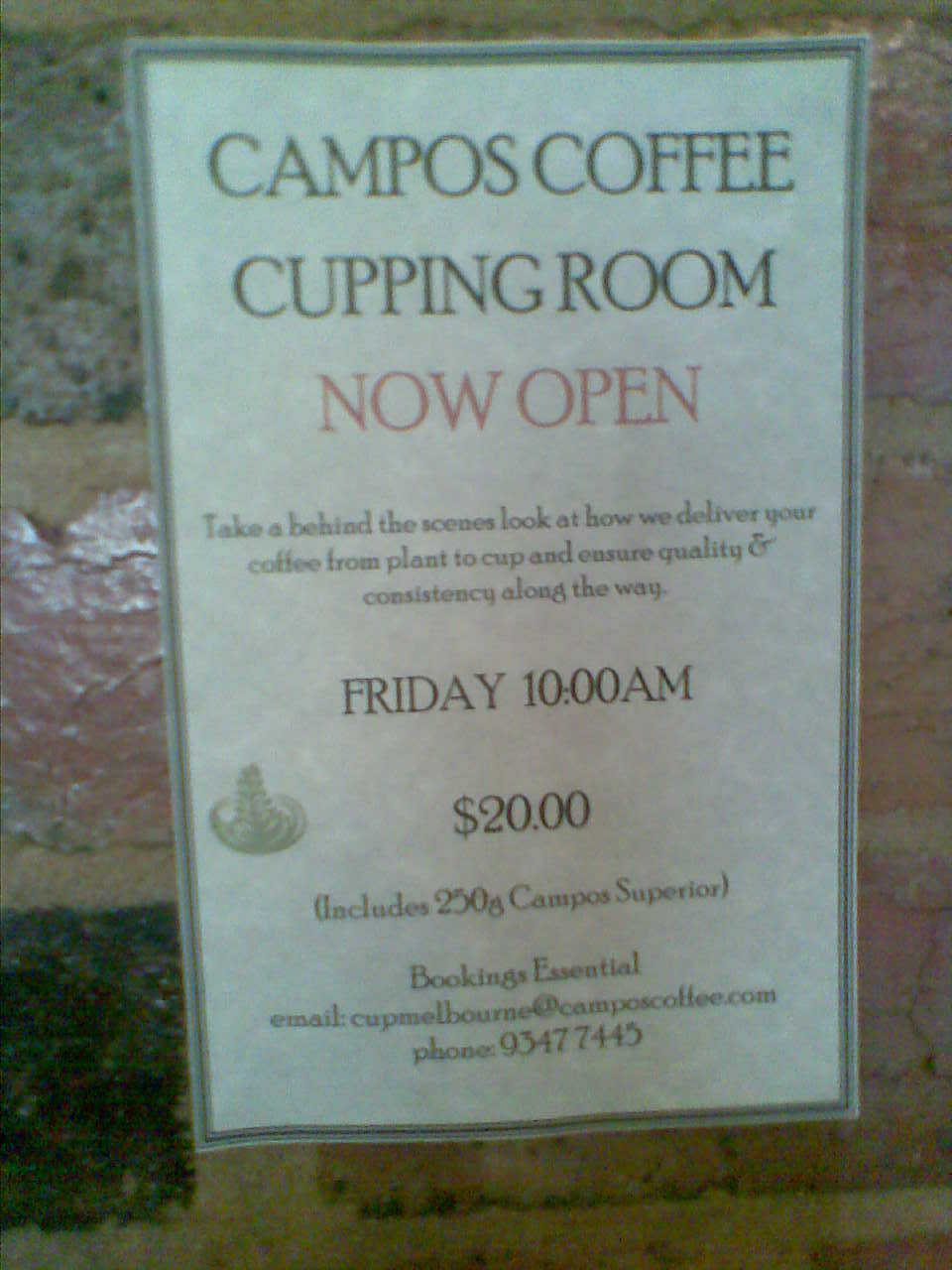 The Cupping Room Wan Chai Menu