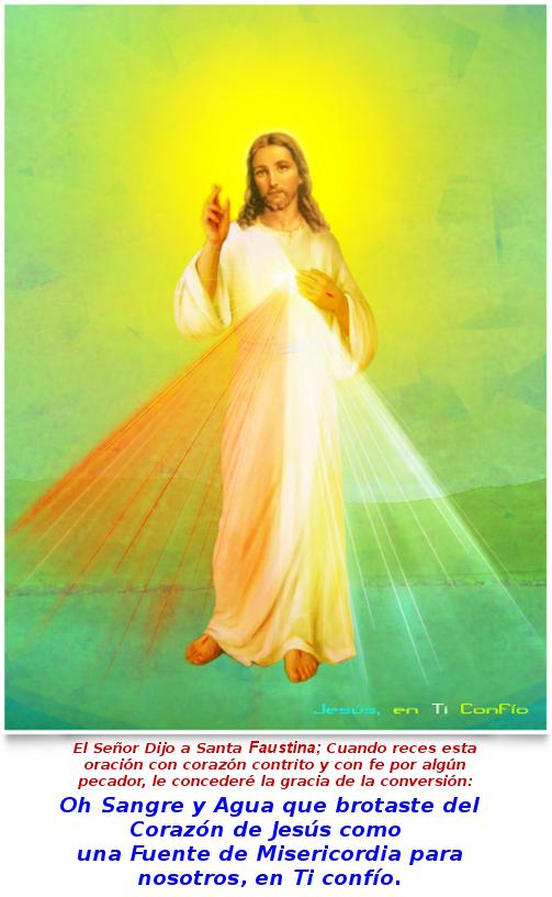 jesus misericordia, con su sngre y agua en forma de rayos