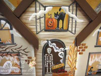 wood halloween house front porch