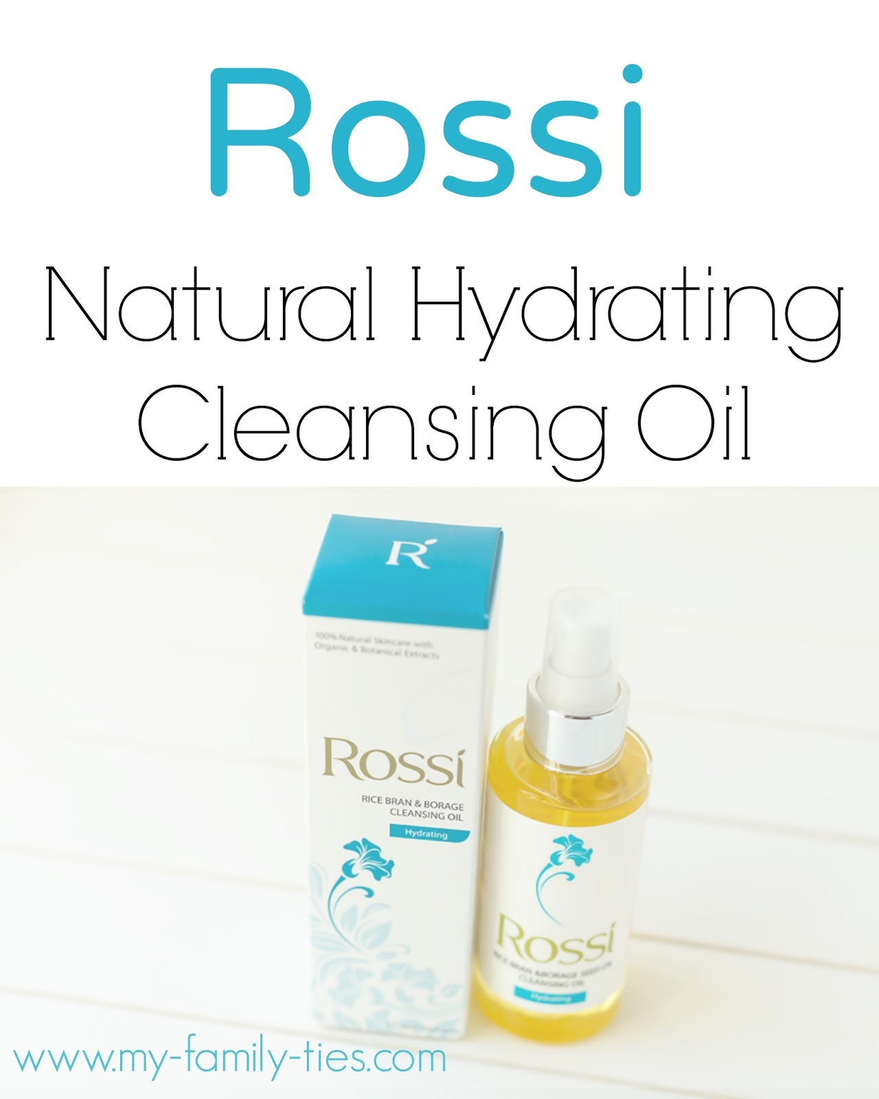 Rossi hydrating Cleanser Oil  Review  photos by My Family Ties Blog www.my-family-ties.com