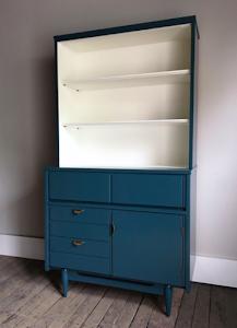 Two-Tone MCM Hutch/Bookcase - $495