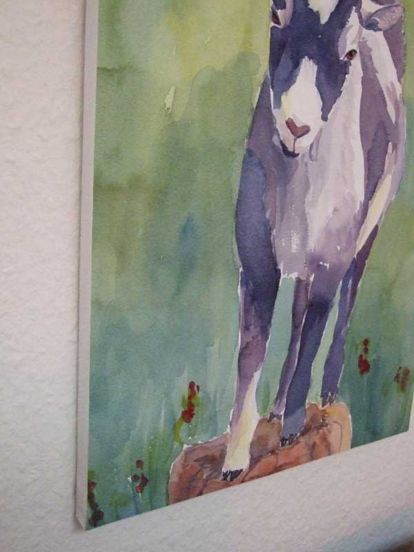 Lenes billedkunst: Hanging watercolors without glass framing