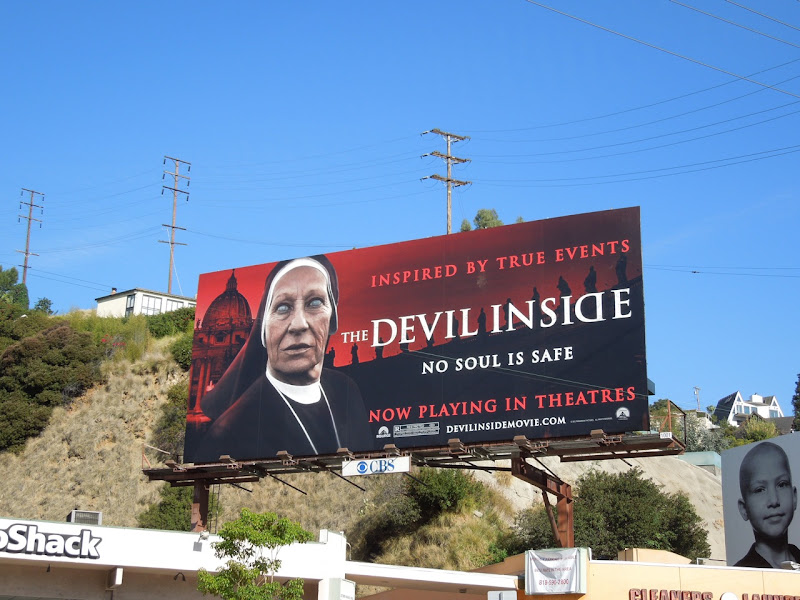 The Devil Inside movie billboard