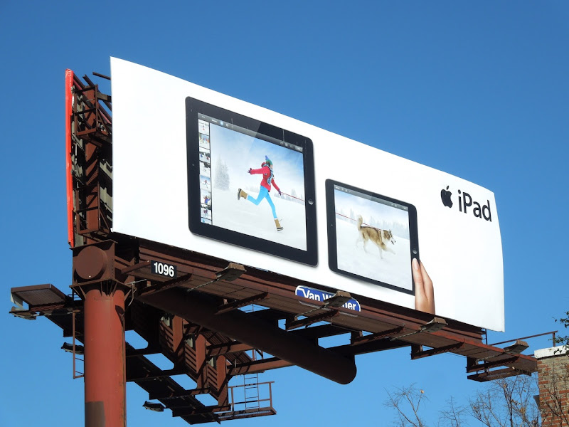 iPad husky billboard
