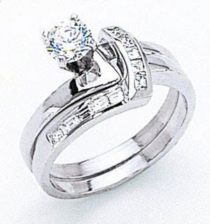 white gold wedding ring sets