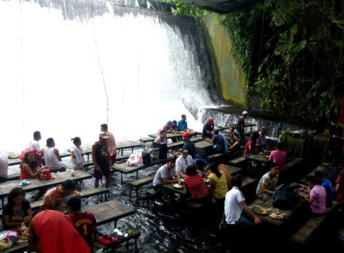 beautiful waterfall resturant