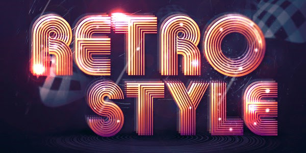 Create Abstract Shining Text Effect with Groovy Font