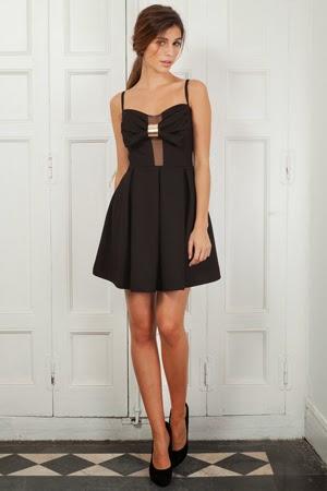 vestido negro de Poète