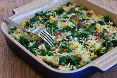 Kale, Bacon, and Cheese Breakfast Casserole Recipe (Low ...