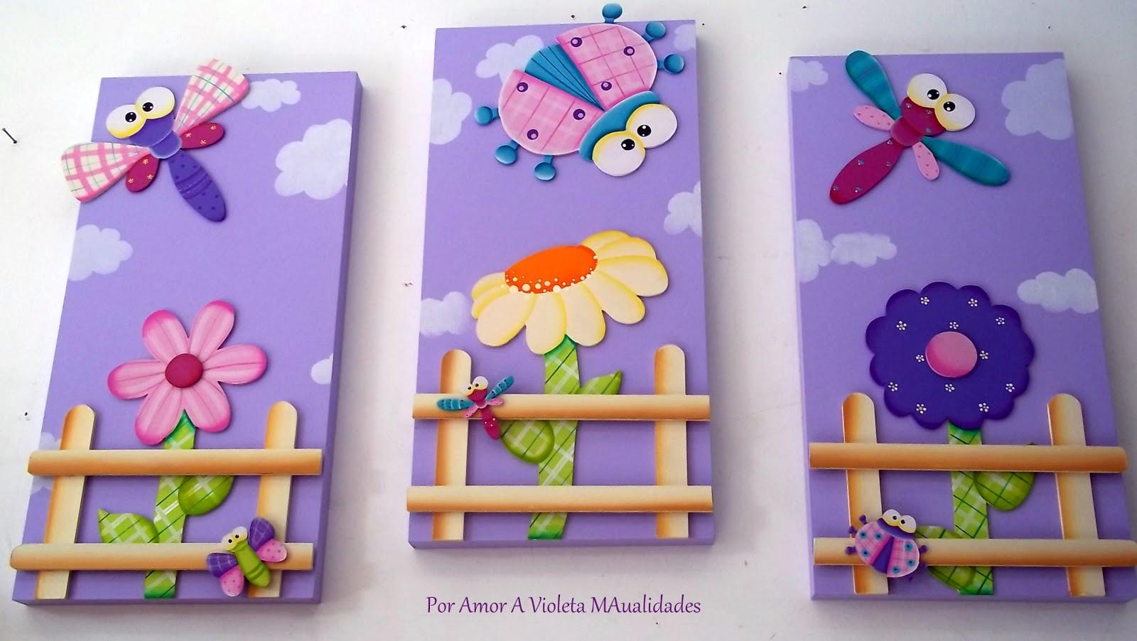 Por amor a violeta manualidades arte terapia vicio de - Pinturas habitaciones infantiles ...