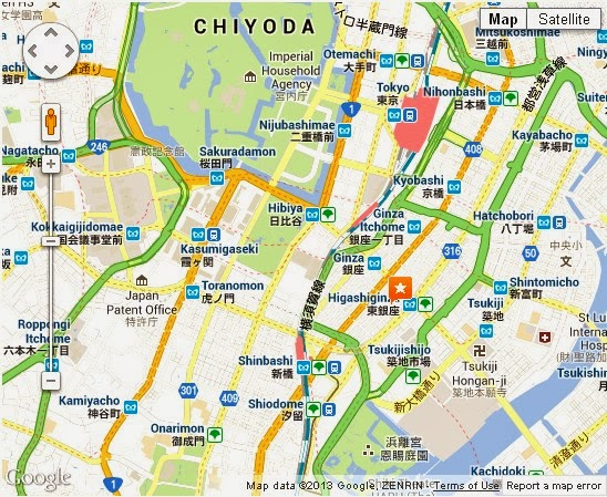 Tokyo Map Ginza