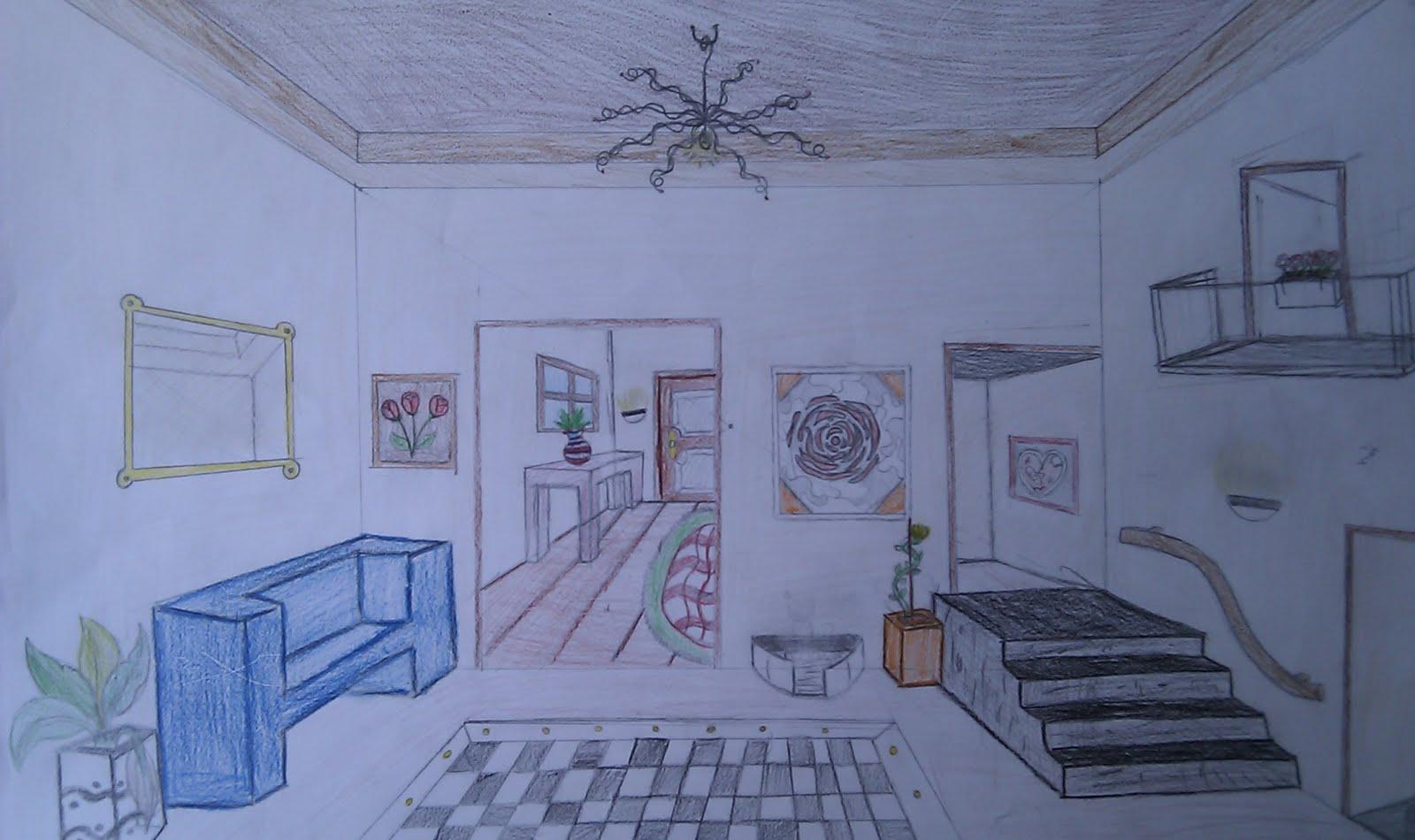 kunstenmakers vmbo 3 een interieur tekenen met 1 ForInterieur Tekenen