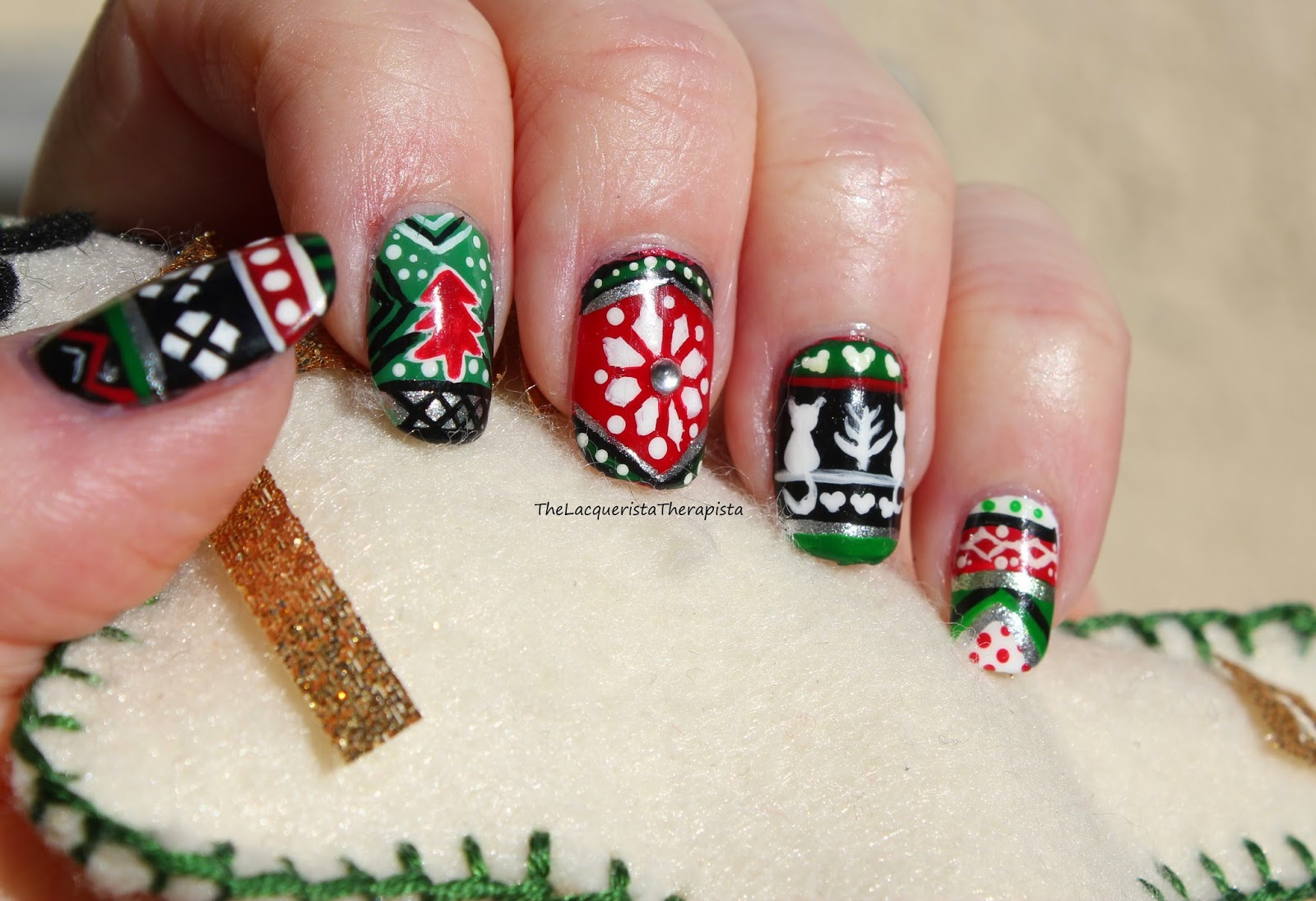 ugly Christmas sweater, Zoya, festive, holidays, freehand