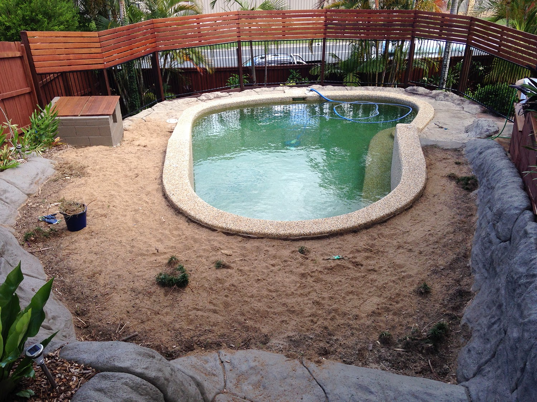 my home: renovating the pool & pool garden   glamour coastal living