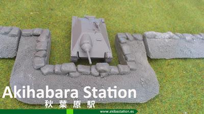 Tanque Hetzer Segunda Guerra Mundial y Barricadas 15mm [Terrains4Games].