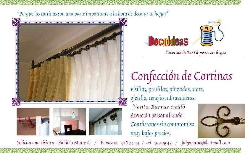 Confecci n de cortinas venta de barras xido y rieles - Precio de confeccion de cortinas ...