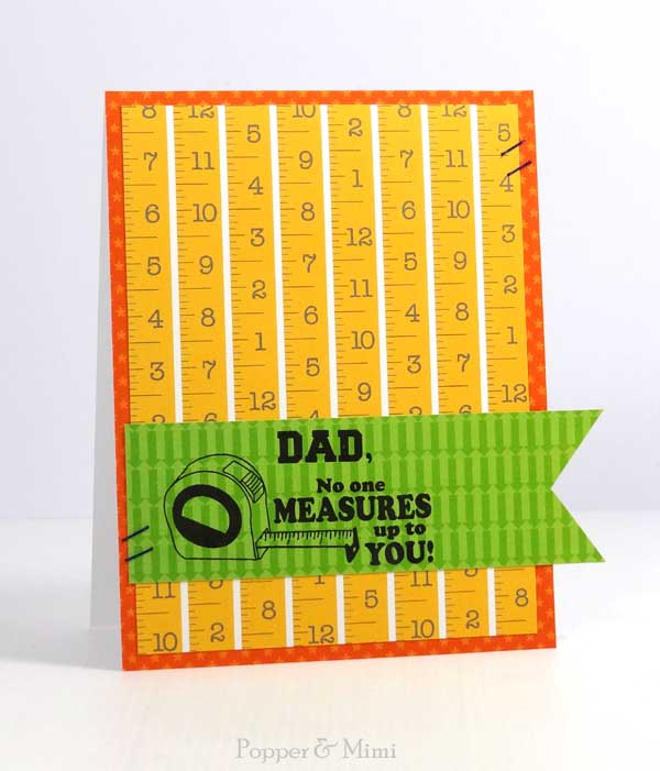 No One Measures Up to You Father's Day Card | popperandmimi.com