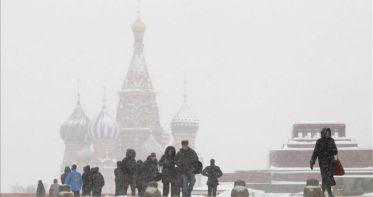 Nevada histórica paraliza Rusia, 06 de Febrero 2013