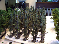 First batch of pine trees ready for my layout