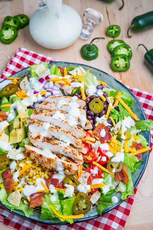 Southwestern Grilled Chicken Jalapeno Popper #Salad