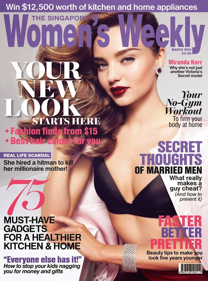 Miranda Kerr Photos from Women's Weekly Singapore Magazine Cover March 2014 HQ Scans