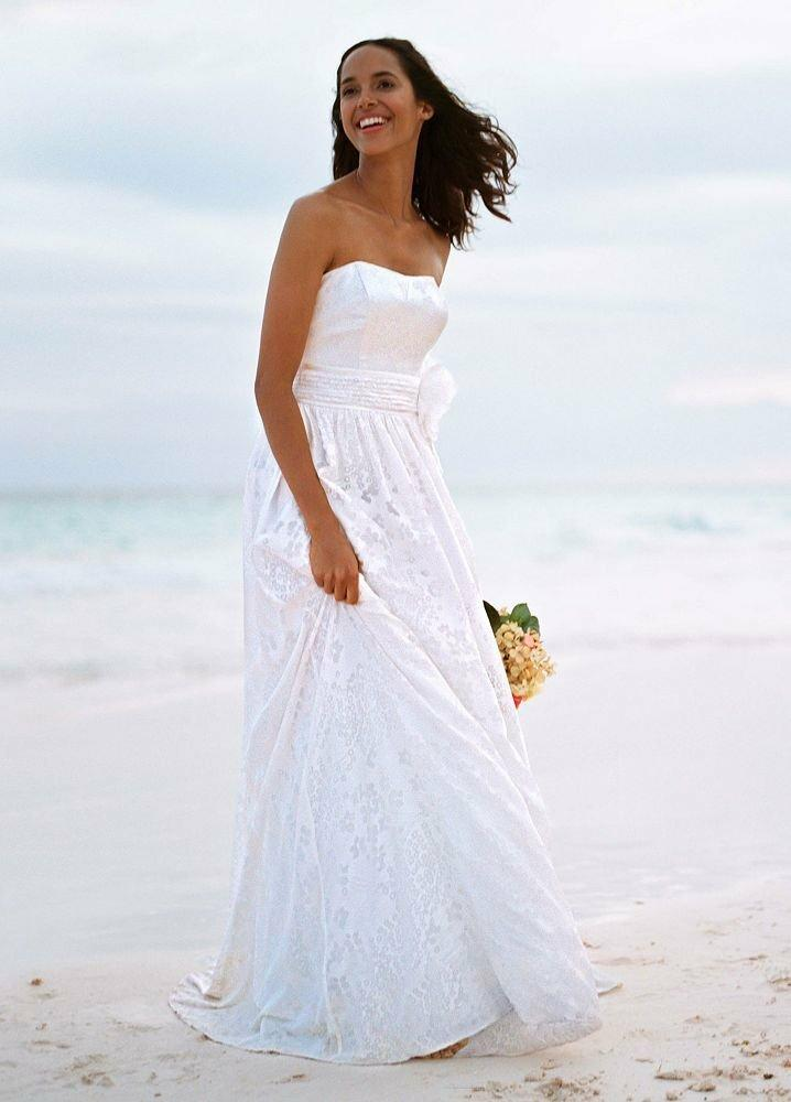 Asestilo store beach gown wedding dress for Davids bridal beach wedding dresses