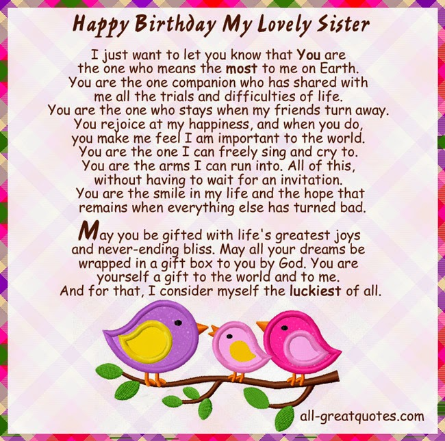 Free Birthday Cards For Sister ~ Birthday cards for sister picture