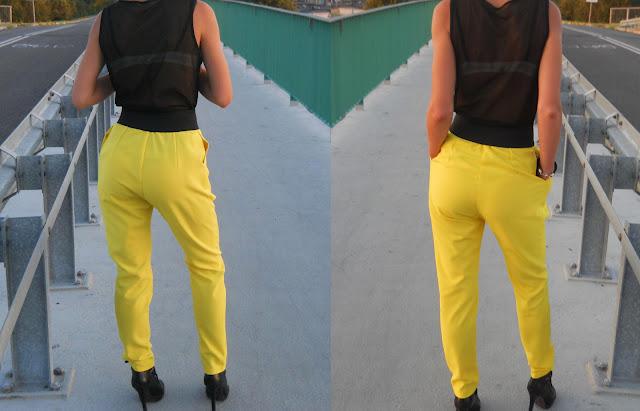 charme e chique modne żółte spodnie 2012