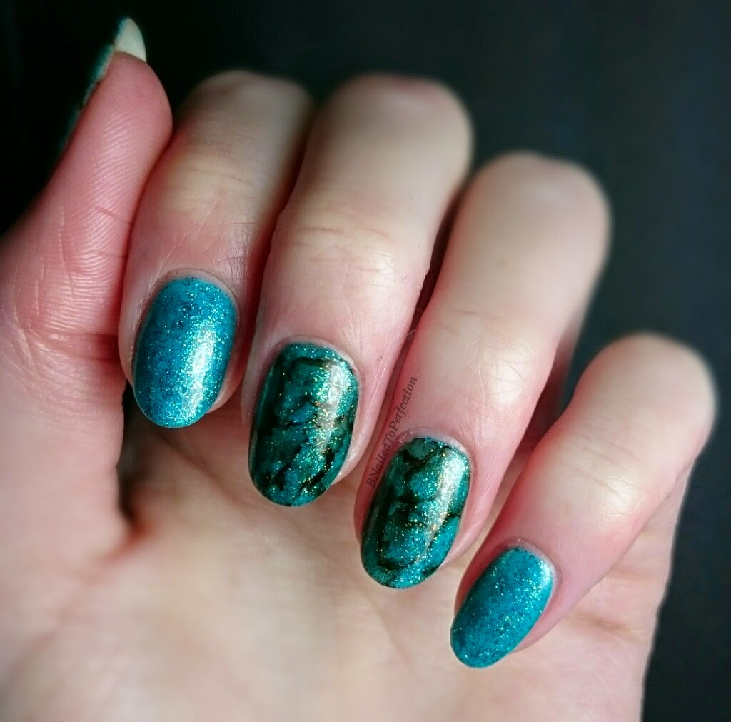 B Nailed To Perfection: Turquoise Stone Sharpie Nail Art