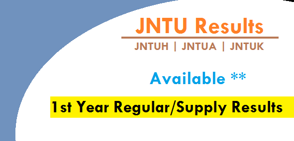 jntu 1st year regular/supply results
