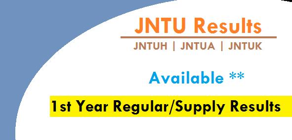 jntu 1st year regular/supply results