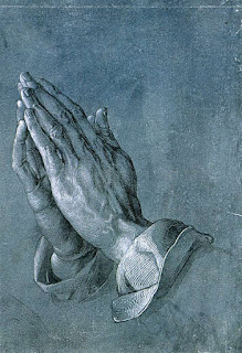 The praying hands - a picture of serenity, peace and calmness before God