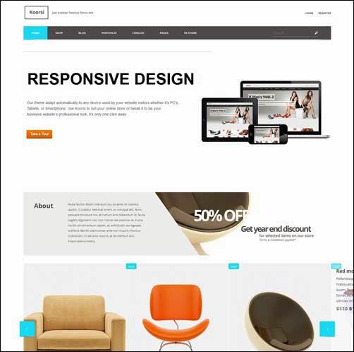 Koorsi – All In One: Ecommerce + Portfolio + Blog