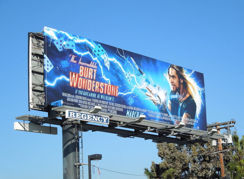 Jim Carrey Burt Wonderstone movie billboard