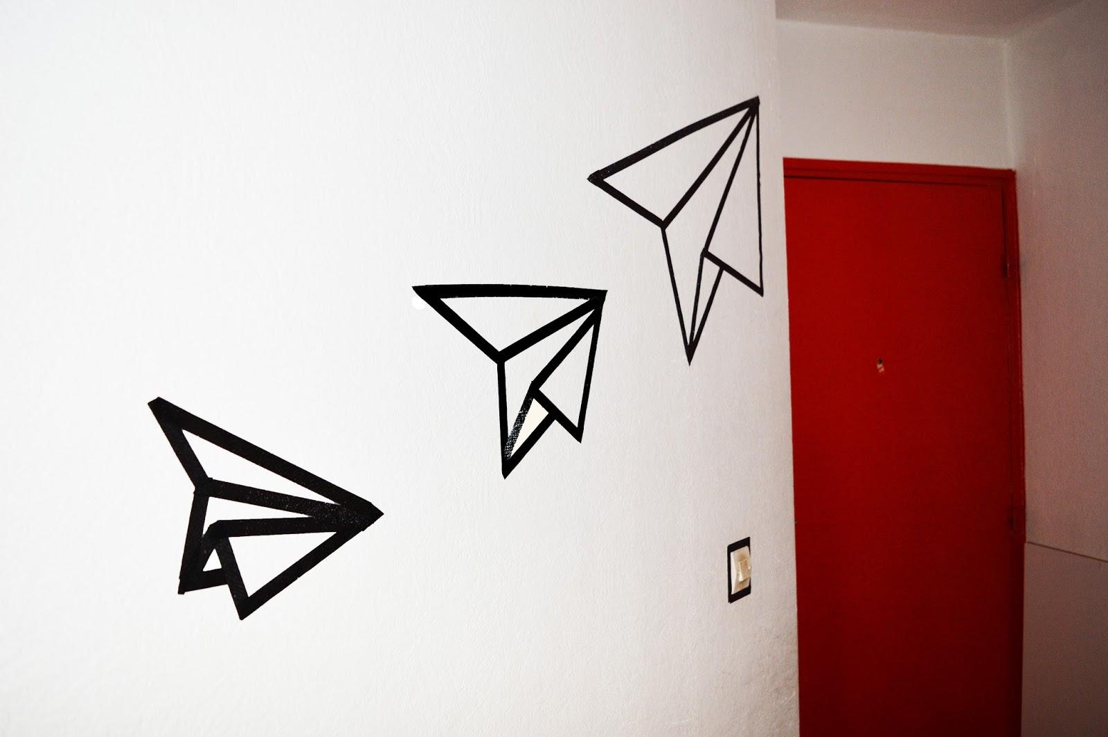 D co murale mini prix 10 diy en masking tape aly 39 s for Decoration murale art deco