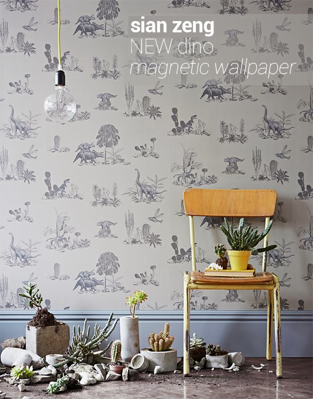 chocolate creative new magnetic dino wallpaper by sian zeng