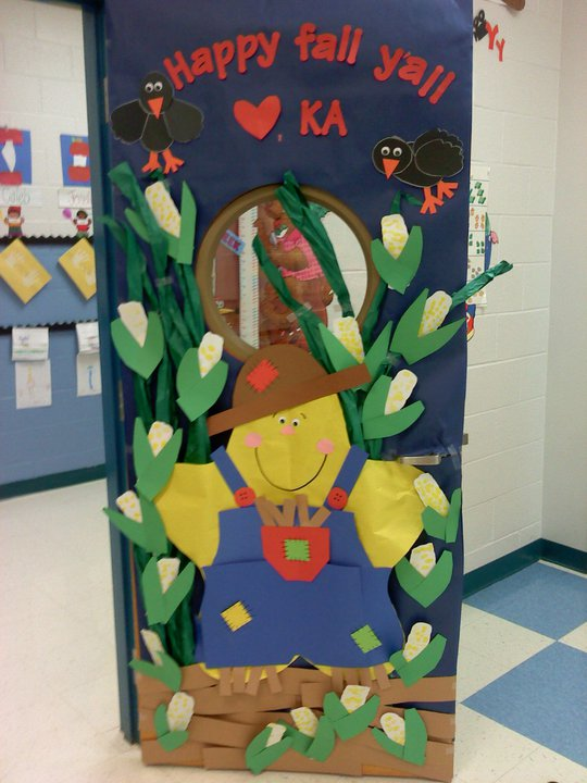 Fall Themed Classroom Door Decorations ~ Teach repeat our yearly door designs