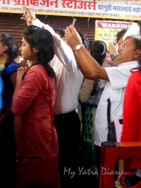 Praying to Bappa, Lalbaugcha raja Pandal, Ganesh Pandal Hopping, Mumbai