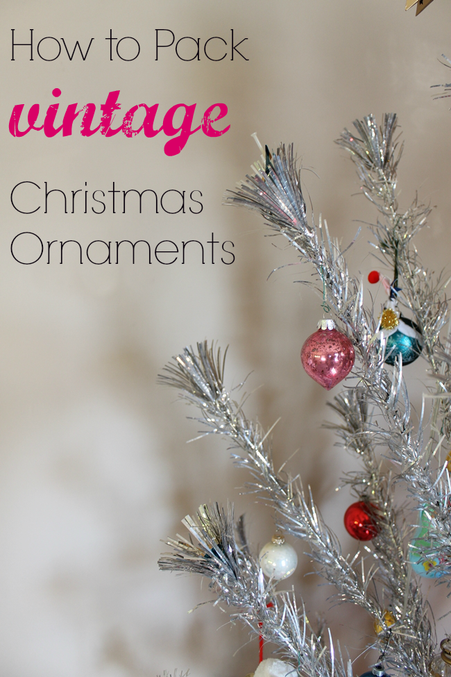 how to pack vintage christmas ornaments