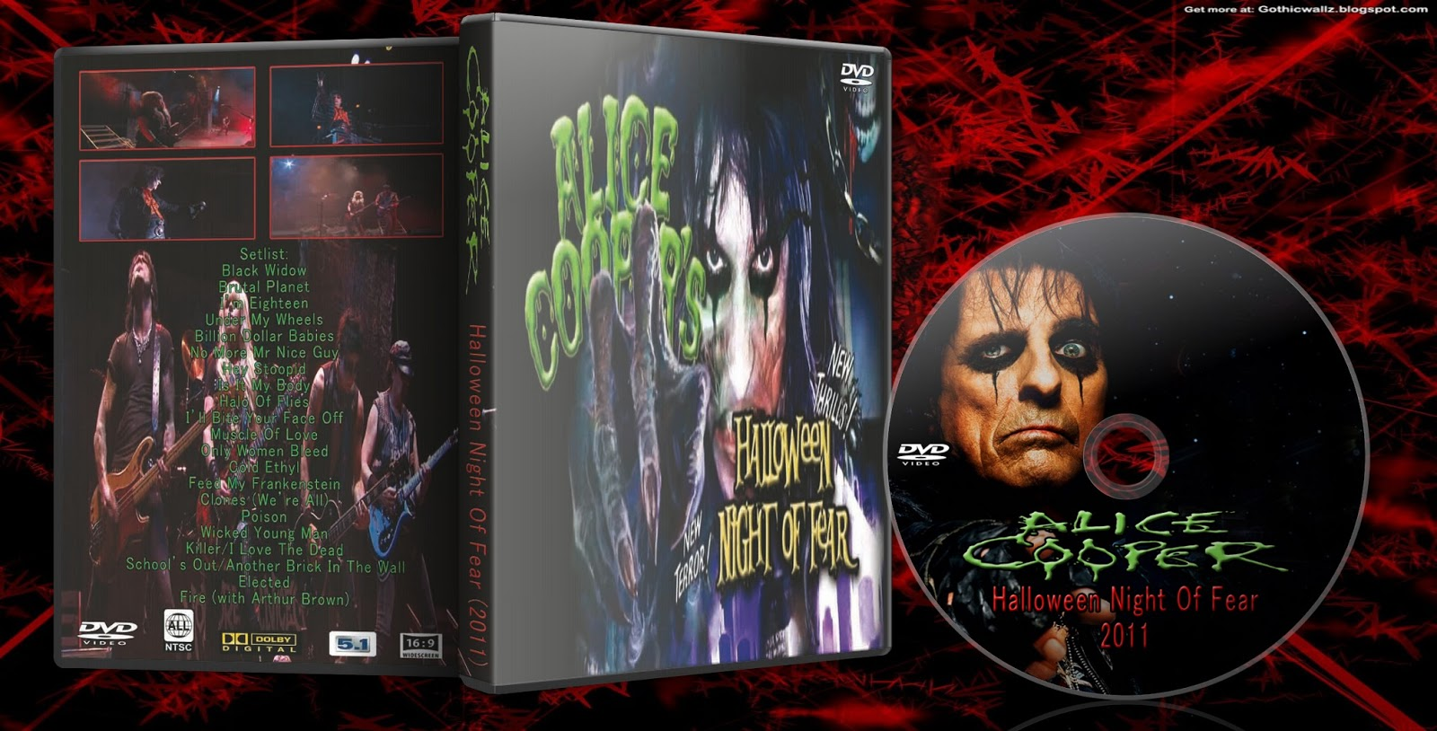 alice coopers halloween night of fear 2011 hdtv to dvd