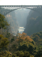 It's a long way down from the bridge to the Zambezi!