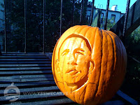 Carved politician