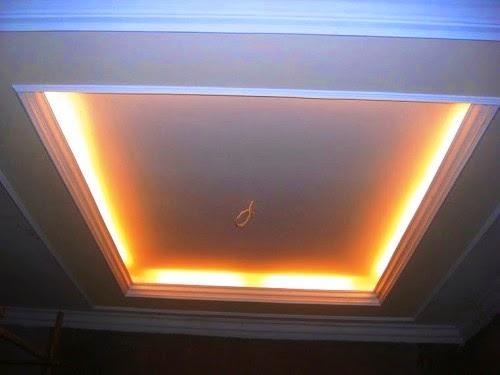 Gambar Plafon Rumah Minimalis Modern Dengan Dekorasi Lampu