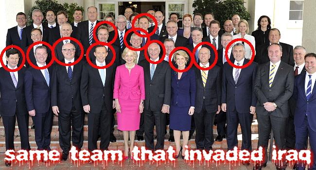 Lovely Inside Tasmania: Political Amnesia   Abbottu0027s Cabinet Is The Same Team That  Invaded Iraq
